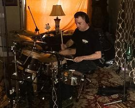 Randy laying down the law with the drum tracks